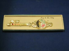 Key to the City FLORIDA FINEST QUALITY GUARANTEED THERMOMETER FORT 1959 GOLD