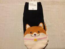 Socks Corgi  Print One Size Ankle NWT Cotton Blend Navy