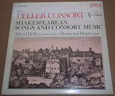Deller Consort SHAKESPEAREAN SONGS & CONSORT MUSIC - RCA VICS-1266 SEALED