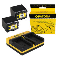 2x Batteria Patona + caricabatteria USB dual per Canon LEGRIA GX10,HF G10,HF G25