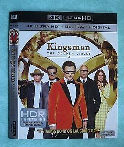 KINGSMAN THE GOLDEN CIRCLE, KIN  4K Blu ray slipcover