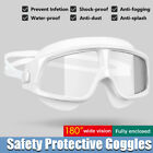 Fully enclosed safety goggles Eye Protection Glasses Anti-fog/Saliva/Dust/Gas/UV