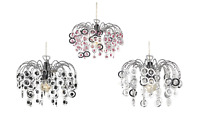 Chrome Plated Chandelier Pendant  Acrylic Droplet Crystals Easy Fit Light Shade