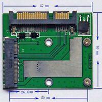 NEW Mini PCI-E mSATA SSD TO 2.5'SATA 6.0 GPS Adapter Converter Card Module Board
