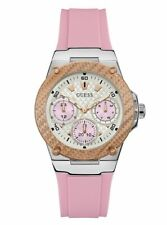 Guess Ladies Two Tone Pink Zena Multifunction Silicone Strap 39mm Watch U1094L4