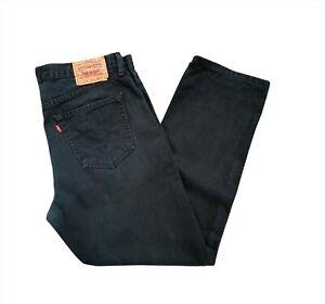 Levi's 751 Straight Leg Standard Fit Men's Black Denim Jeans - W38 x L30