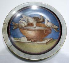 Belle ASSIETTE Reproduction Porcelaine de Limoges Feuillade Décor Oiseaux