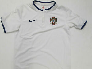 VINTAGE NIKE PORTUGAL NATIONAL FOOTBALL TEAM YOUTH LARGE SEWN JERSEY 2014 KIT