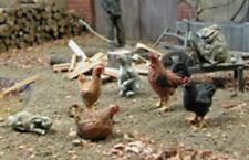 1/35 Scale Farm animals Cock Hens Rabbits resin model kit
