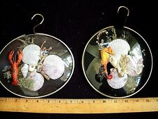 Vintage Pair of Seaside Collections Wall Hangings 1950's w/ Seahorse and Lobster