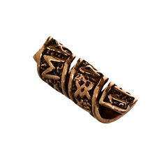Bartperle Bartschmuck Haarschmuck Bronze Ketten Perle Bead Bartring Zopfperle