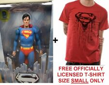 """Genuine Neca 7"""" película de Superman Reeve 1978 Figura De Acción Dc + Gratis Camiseta Pequeña"""