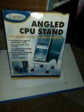 New listing Kantek Cs250G Angled Cpu Rolling/Swivel Adjustable Stand Gray Nib