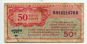 SERIES 471 50 CENTS MILITARY US CURRENCY ISSUED 1947-1948 CHEAP L@@K