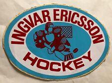 VINTAGE INGVAR ERICSSON HOCKEY STICKER DECAL LARGE NEW