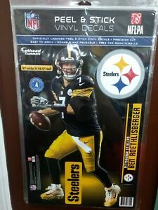 """BEN ROETHLISBERGER PITTSBURGH STEELERS 4 PC. FATHEAD 11""""X17"""" WALL GRAPHIC DECALS"""