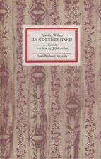 IB 1062 - Martin Walser: In Goethes Hand (Szenen a.d.19.Jh.)  1. Aufl.   1985