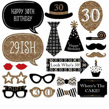 Man 30th Birthday Party Photo Booth Props Photography Favour Moustache 20pcs DIY
