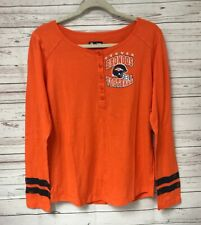 NFL Team Apparel Women s Long Sleeve Shirt Denver Broncos Large 5da75d802