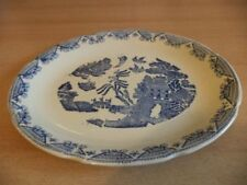 Vintage Original Platters Blue & White Transfer Ware Pottery