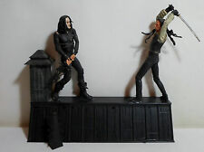 NECA 2005 THE CROW ERIC DRAVEN vs TOP DOLLAR FIGURES ROOFTOP BATTLE GLUED INCOMP