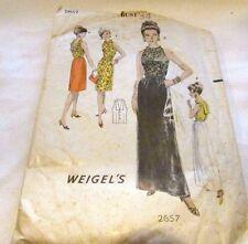 Vintage Original 60's Ladies Evening Gown Weigel's Sewing Pattern Size 14 Cut