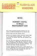 SE Finecast SE103 Flush Glazing Kit Hornby/Dapol 12 Wheel Restaurant 00 1st Clas