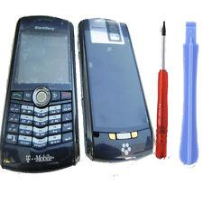 Blackberry Pearl 8100 Fascia Housing Battery Cover Keypad Lens Blue + Tools