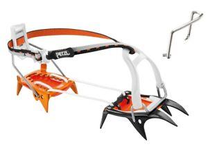 Petzl Irvis Hybrid crampons with steel front piece and aluminum heel piece