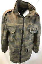 Men's KR3W Camo Military Jacket - Medium Green