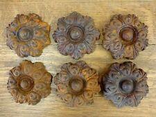 6 Rusty Brown Decorative Cast Iron Embellishment garden gate door fence rusty