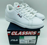 Fila Women's Ladies Reunion Leather Court Shoes Lace Up Sneakers White
