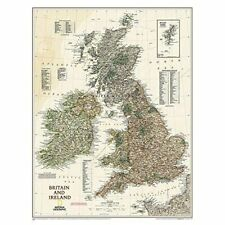 Britain and Ireland Executive, tubed Wall Maps Countrie - Map NEW National Geogr