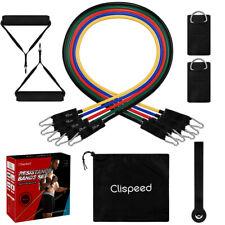 Clispeed 11pcs Resistance Bands Workout Exercise Yoga Set Crossfit Fitness Tubes