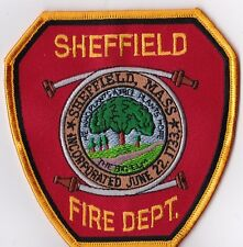 Sheffield Fire Dept. MA Firefighter Patch  NEW!!