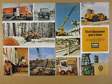 1973 Clark Equipment skidder scraper lift truck crane bobcat loader print Ad