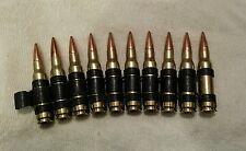 10- 308 7.62x51 7.62 belted snap caps for training drills black gun 3 gun m60