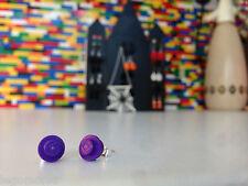 Pair Handmade MonkiStuff Purple Stud Earrings made from LEGO® Bricks Halloween