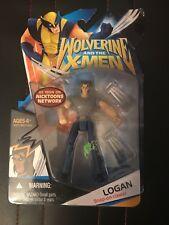 "WOLVERINE & THE X-MEN LOGAN Grey Shirt  3.75"" 2008 HASBRO ACTION FIGURE"
