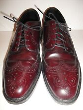 Hanover Vintage Masterflex Burgundy Leather Oxford Wingtips Men's Shoe Size 11.5