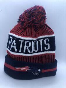 New England Patriots Winter Pom Beanie Hat New Free Ship C Tom Brady NFL C
