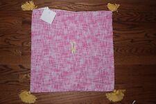"""Nwt Pottery Barn Kids Bright Tassel 20"""" pillow sham pink w/ W yellow"""