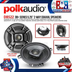 "Polk Audio DB522 DB+ Series 5.25"" 300W Coaxial Speakers w/ Marine Certificatio"