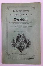 MAGMA: j.g.daum: denkblatt bürgermeister wien 1851 RARITÄTmusealer bestzustand!!