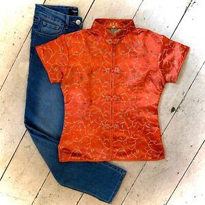 Vintage Retro Chinese Blouse Shirt Size 8