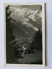 Chamonix et le Mont-Blanc France Vintage B&W Postcard 1939  General view