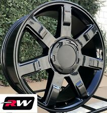 "22"" inch Cadillac Escalade Wheels 2007 2013 Gloss Black Rims 22x9 6x5.50 6x139.7"