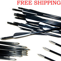 Archery Hunter Steel Arrows Durable  Fiberglass Hunting & Target Practice /LOT