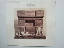 Originale Photo c1870- FRANCE - Bureau Mazarin style Louis XIII