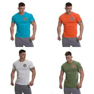 Golds Gym Basic T-Shirt   Orange   Army green   Turquoise   White